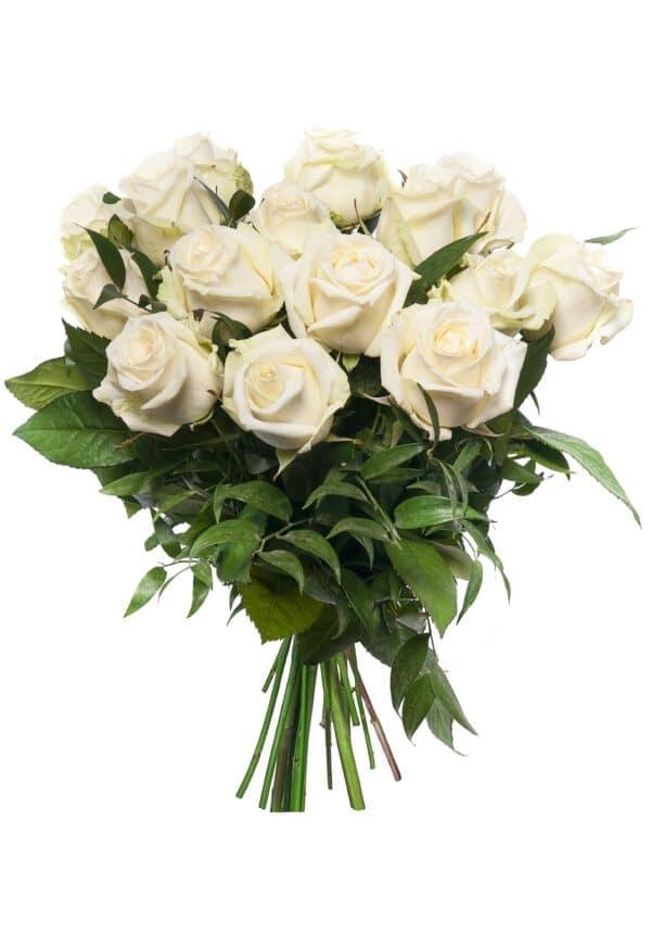 mazzo a scelta di rose bianche - consegna a domicilio