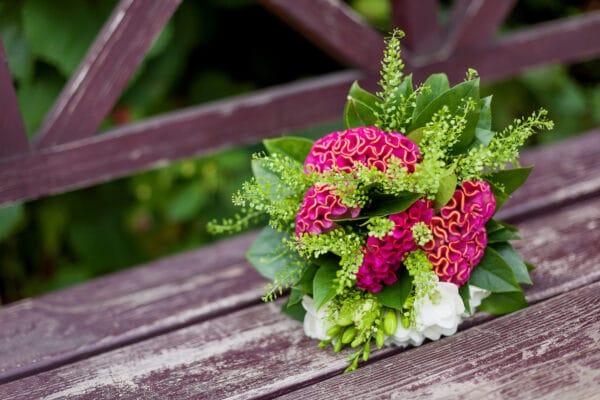 celosia anche per il bouquet da sposa - consegna domicilio