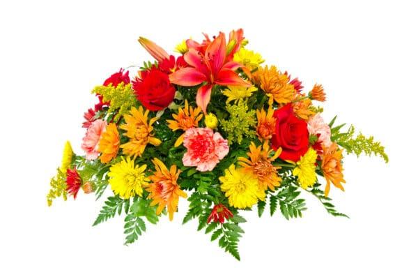 composizione con fiori misti sulle tonalità del giallo - consegna a domicilio